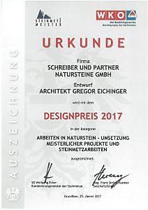 Designpreis 2017 - Arbeiten in Naturstein - Steinmetz