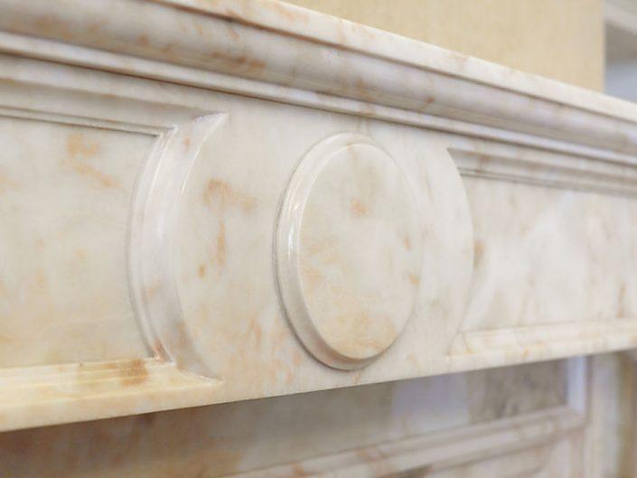 Detail Marmor Kamin