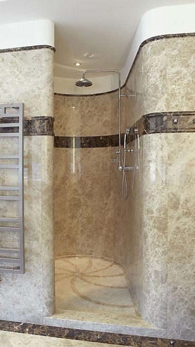 Runde Dusche Marmor