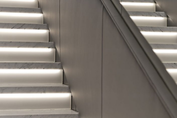 beleuchtete Treppen