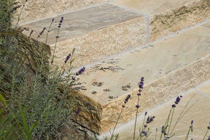 Granit Blockstufen im Garten