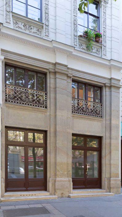 Fassade mit Renaissance-Elementen